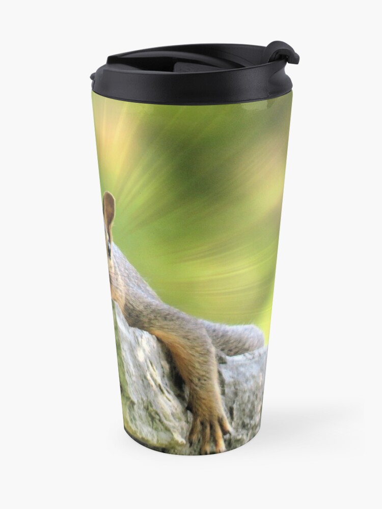 Alternate view of Relaxed Squirrel Travel Mug
