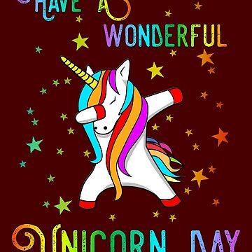 Have A Wonderful Unicorn Day Good Luck Charm Tee by DavidLeeDesigns