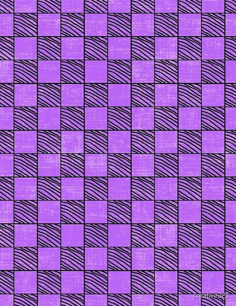 Fun Checks with a Twist Purple by creative321