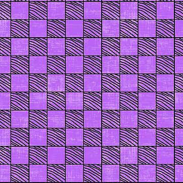 Fun Checks with a Twist Purple by creative321