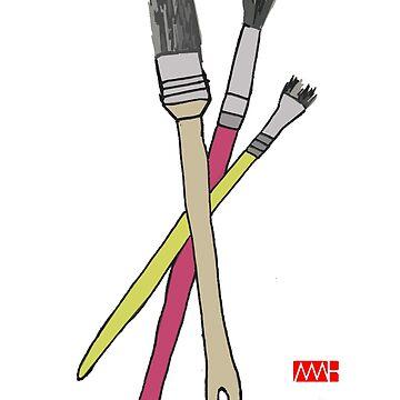 Brushes by myleshuntart