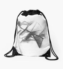 Abstract House Drawstring Bag