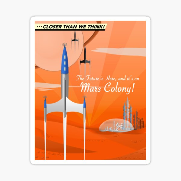 Mars Colony Sticker