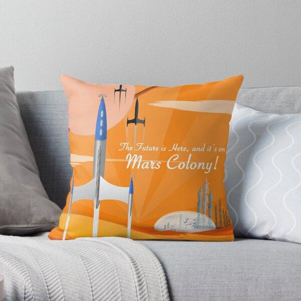 Mars Colony Throw Pillow
