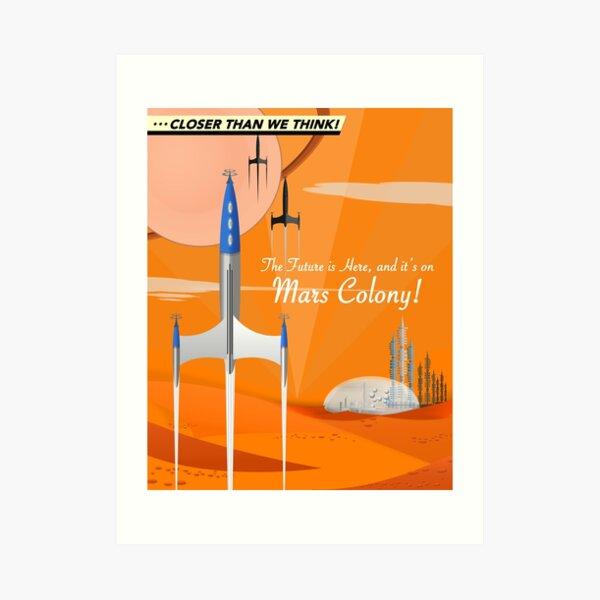 Mars Colony Art Print