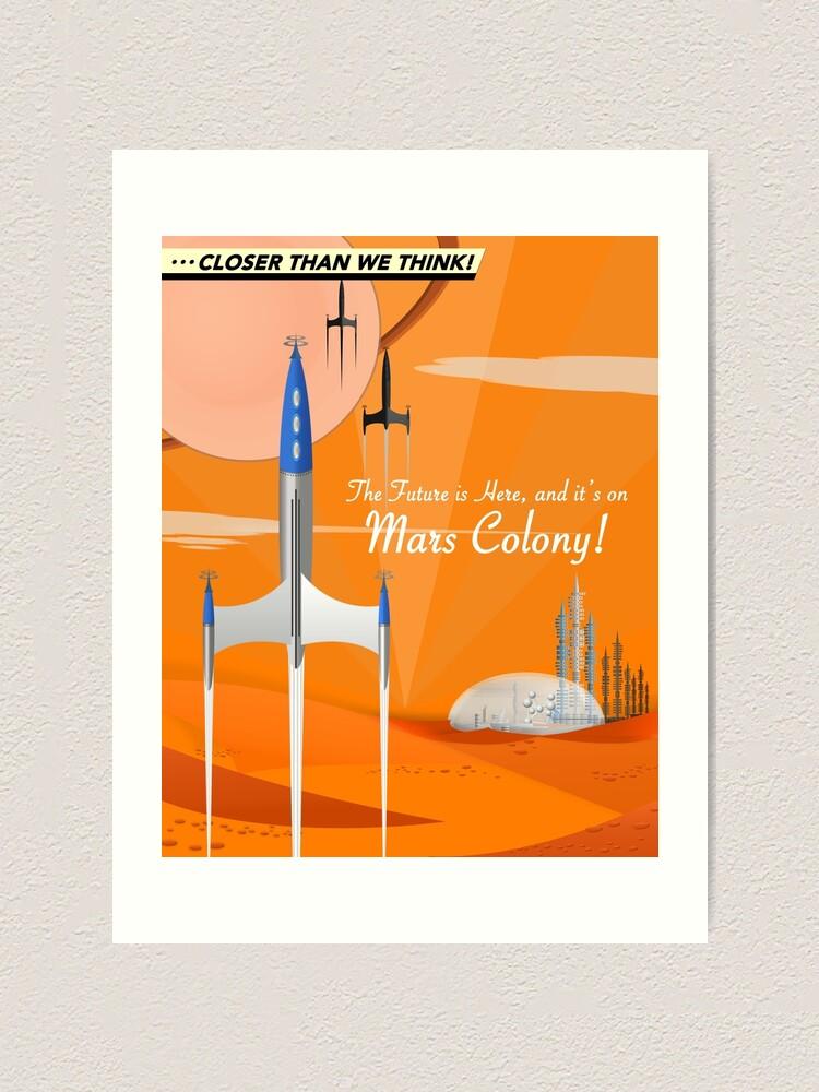 Alternate view of Mars Colony Art Print