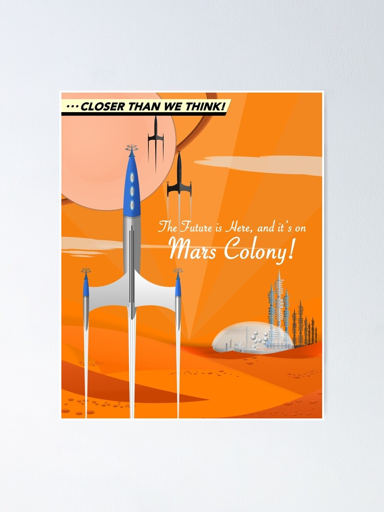 Alternate view of Mars Colony Poster