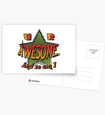U R Awesome Postcards