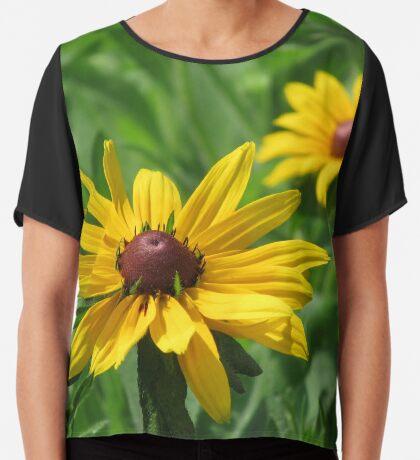 zauberhafte Blumenwiese, Blüten, Blumen, Sommer, Sonne, Natur, gelb Chiffontop