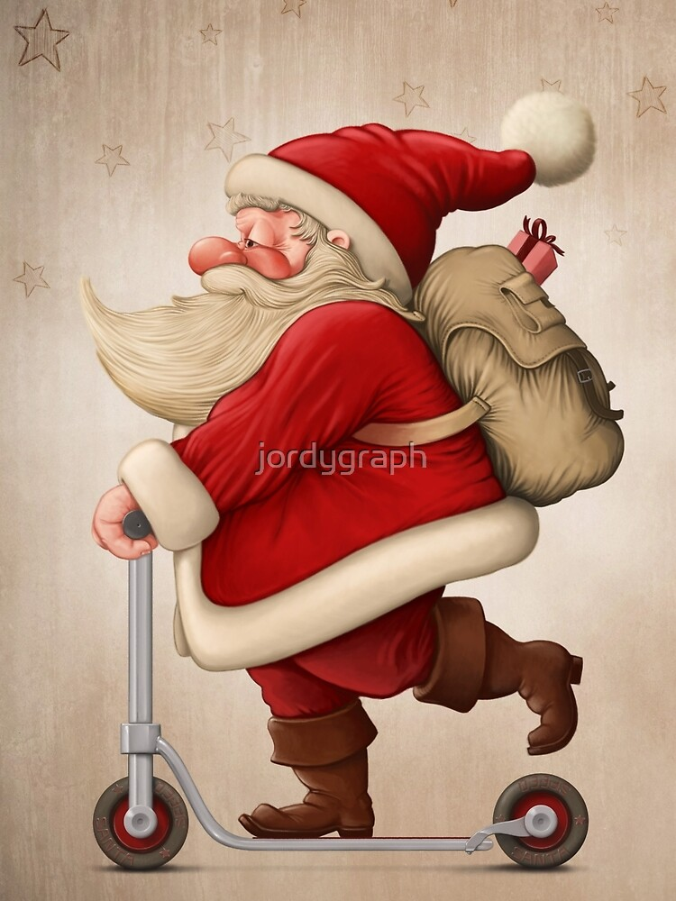 Santa Claus and the Push scooter by jordygraph