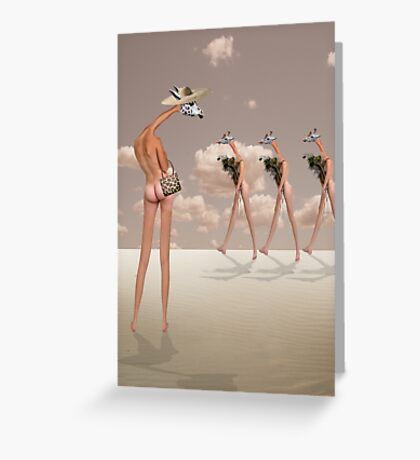 CHECKING OUT THE COMPETITION Greeting Card