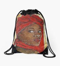 Black Lady No. 12 Drawstring Bag