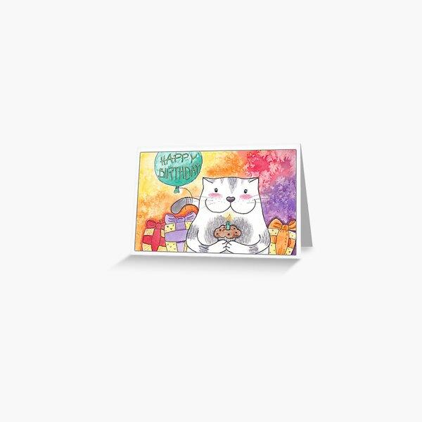 Happy Birthday Kitty Card Greeting Card