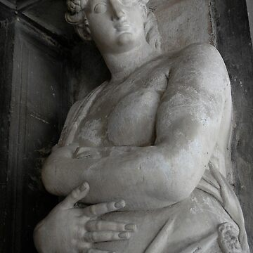 Enormous Stone Woman, Forever Bearing The Weight Of An Ancient Building On Her Weary Head, San Marco Square, Venice 2009 by Ainsleyrk