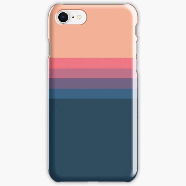 Coral blue Color blocks pattern  iPhone Snap Case
