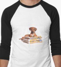 Funny red Ridgeback puppy Men's Baseball ¾ T-Shirt