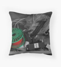 industrial rubbish Throw Pillow