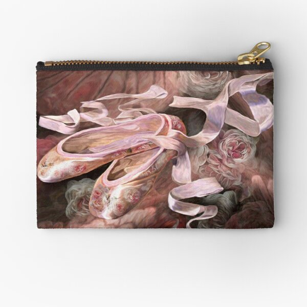 Rose Ballet Shoes Zipper Pouch