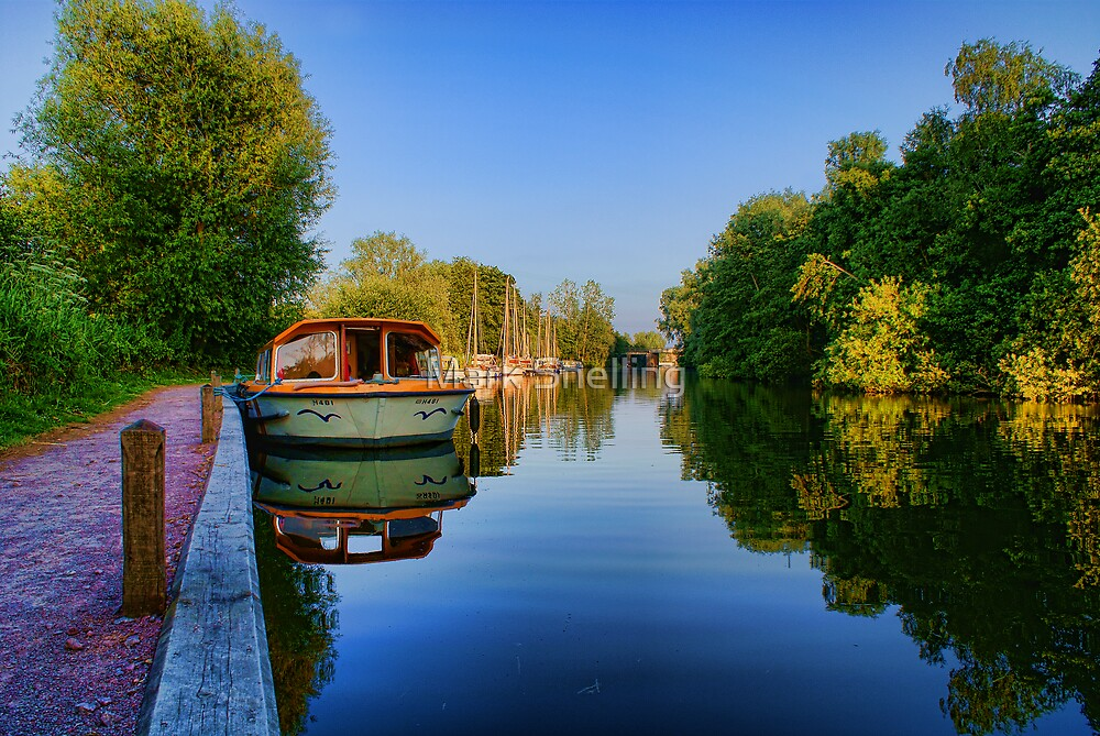 River Bure at Wroxham, Norfolk, UK by Mark Snelling
