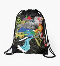 evolução - evolution Drawstring Bag