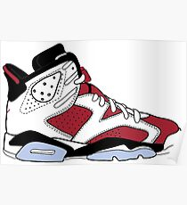 "Air Jordan VII (6) ""Carmine"" Poster"