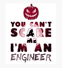 Ingenieur Kürbis Halloween Geschenk Geschenkidee Fotodruck