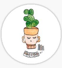 Patrick The Poker Playing Cactus   Emma Watts Sticker