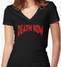 Death Row  Women's Fitted V-Neck T-Shirt