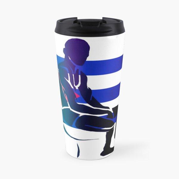 Custom Stencil Man (Cuba)  Travel Mug