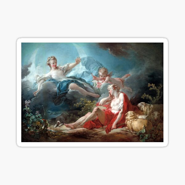 Jean-Honoré Fragonard Diana and Endymion Sticker