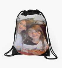 Two Little Artists Drawstring Bag