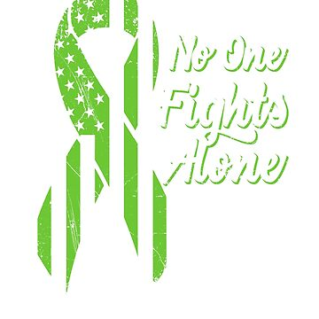 Non-Hodgkin's Lymphoma Awareness - Patriotic US American Flag - No One Fights Alone by SuckerHug