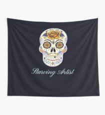 Starving Artist Decorative Skull Design Wall Tapestry