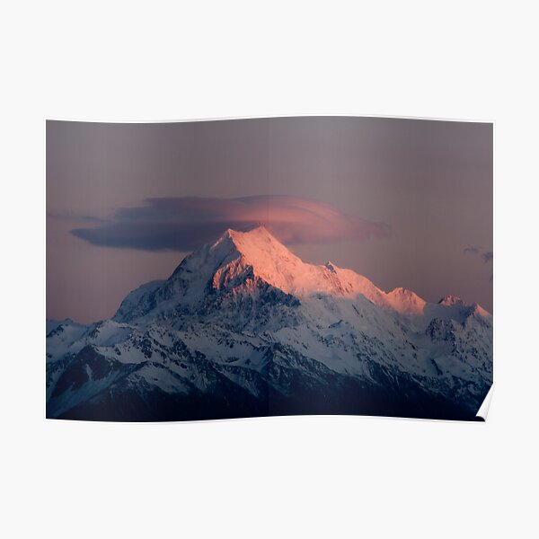 Mt Cook, South Island,New Zealand. Poster