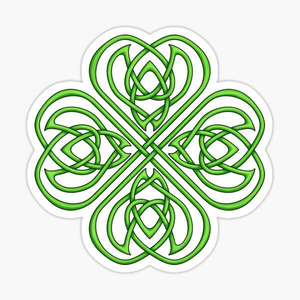 Irish Shamrock - Green Celtic Knotwork Sticker