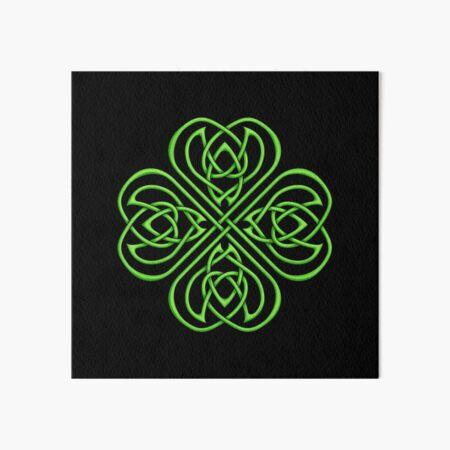 Irish Shamrock - Green Celtic Knotwork Art Board Print