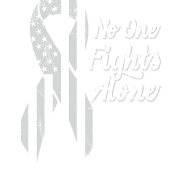 Lung Cancer Awareness - Patriotic US American Flag - No One Fights Alone by SuckerHug