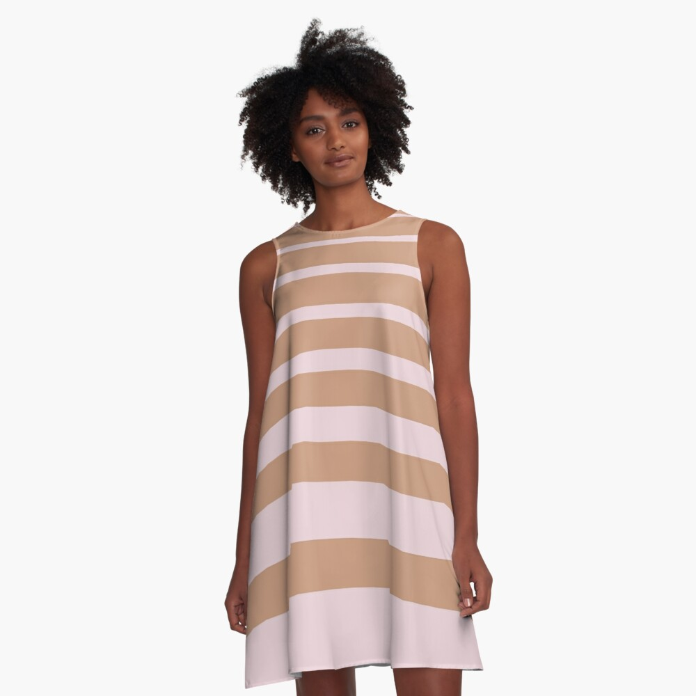 Stripes A-Line Dress