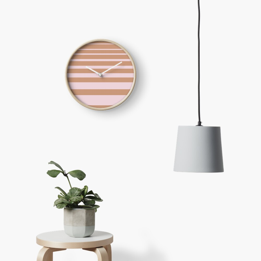 Stripes Clock