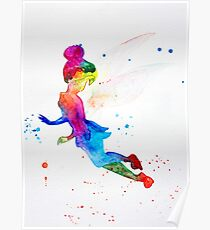 Tinkerbell, watercolor Poster