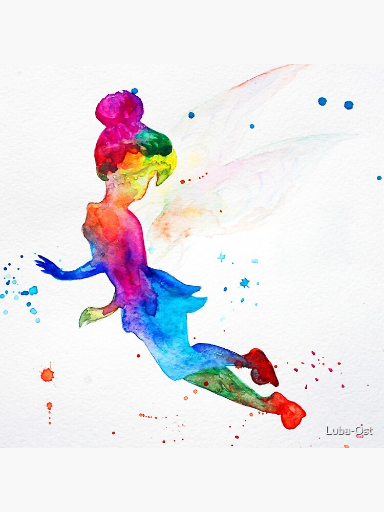 Tinkerbell, watercolor by Luba-Ost