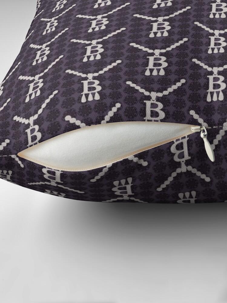 Alternate view of Anne Boleyn B necklace with tudor rose Floor Pillow