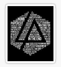 New Art Linkin Park All Name full Album Sticker