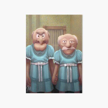 Muppet Maniac - Statler & Waldorf as the Grady Twins Art Board Print