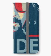 The Dude Abides T Shirt, Abide, Yes We Can Obama Parody Original Design iPhone Wallet/Case/Skin