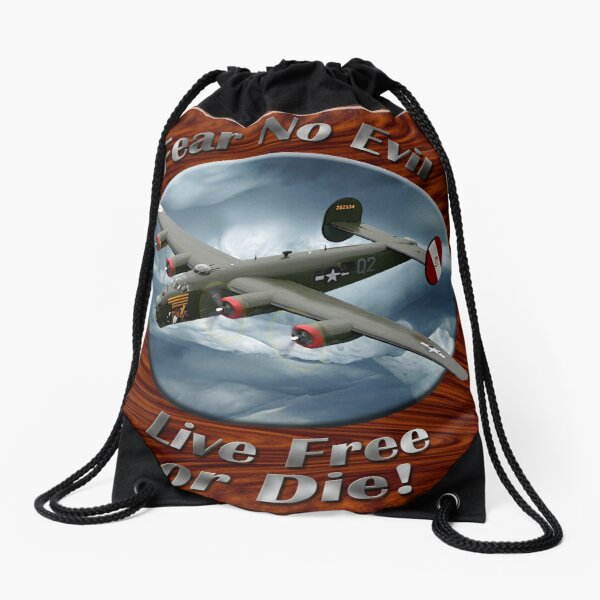 B-24 Liberator Fear No Evil Drawstring Bag