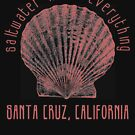 Saltwater Heals Everything - a Shell Santa Cruz California Beachy Scene (Design Day 234) by TNTs