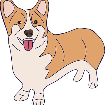Pembroke Welsh Corgi Dog by awkwarddesignco