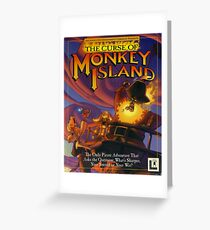 The Curse of Monkey Island Greeting Card