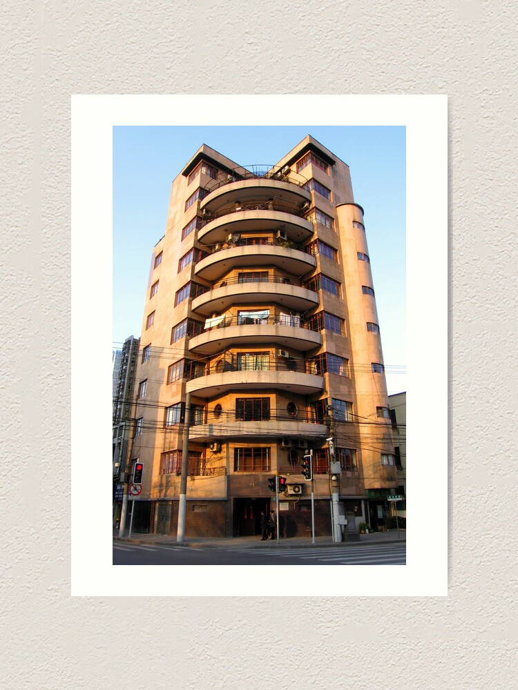 Alternate view of Alfred Magy Apartments - West Fuxing Rd - Shanghai, China Art Print